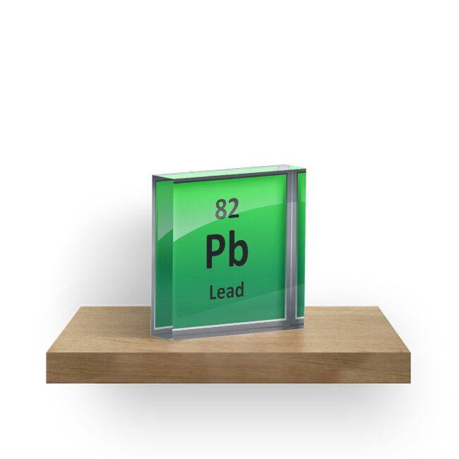 Lead Periodic Table Element Symbol Acrylic Blocks By Sciencenotes