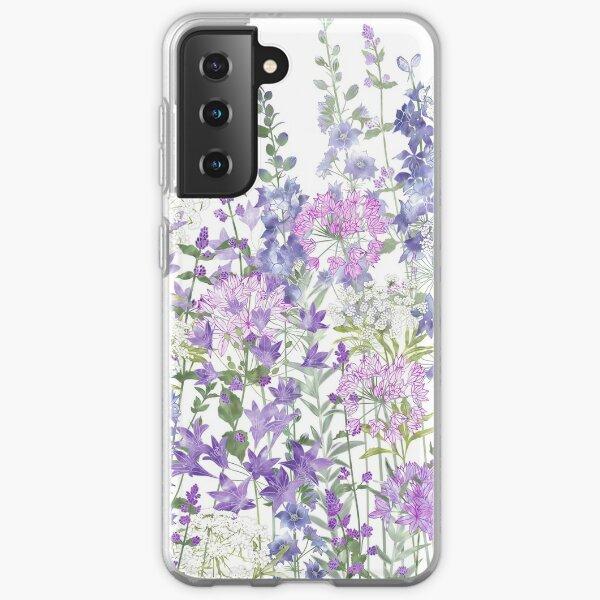 Flower Garden - Allium Eros, Larkspur, Ammi, Cluster Lilies, Catmint Samsung Galaxy Soft Case