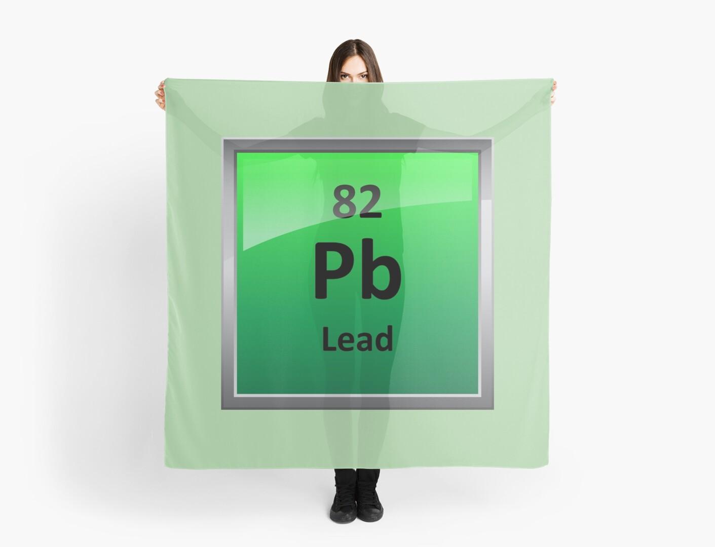 Lead periodic table element symbol scarves by sciencenotes redbubble lead periodic table element symbol urtaz Choice Image