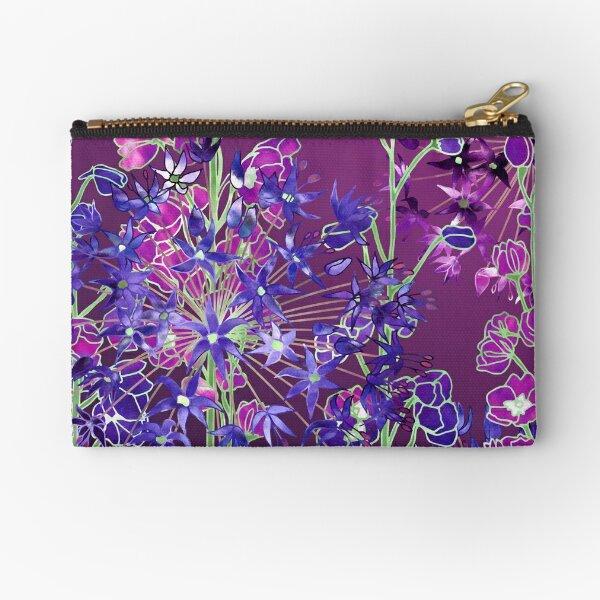 Delphiniums & Alliums - Purple Flowers Zipper Pouch