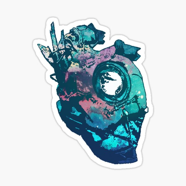 Dishonored - The Heart (Blue) Sticker
