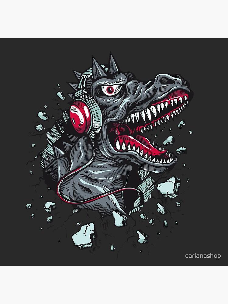 Dino with Headphone von carianashop