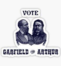 1880 Vote Garfield and Arthur Sticker