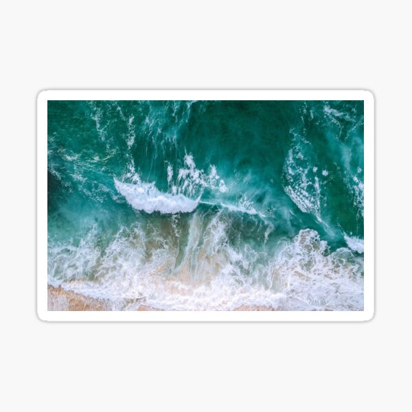 Aerial Photograph of the Sea Sticker