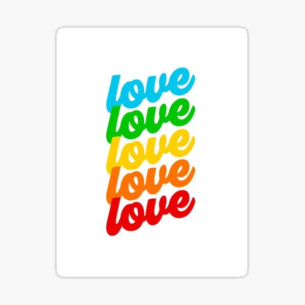 Rainbow Love - Pride month Sticker