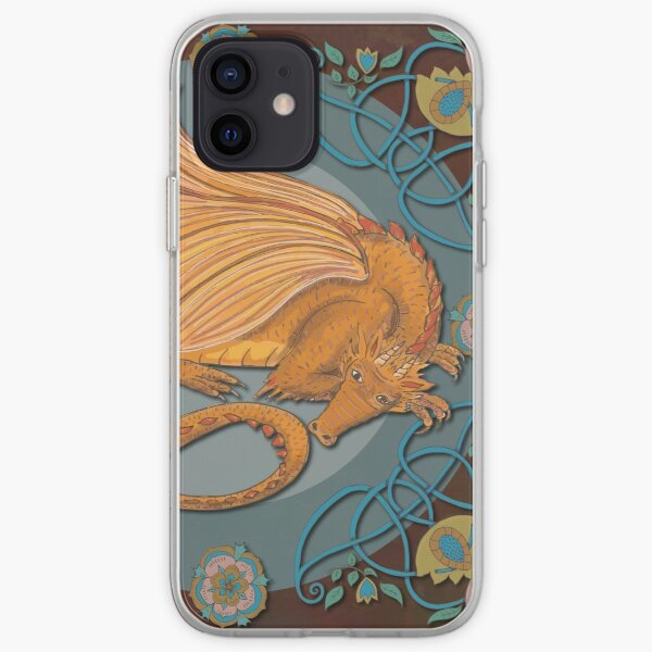 Celtic Medieval Earth Dragon iPhone Soft Case
