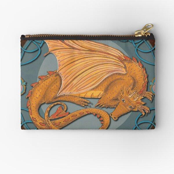 Celtic Medieval Earth Dragon Zipper Pouch