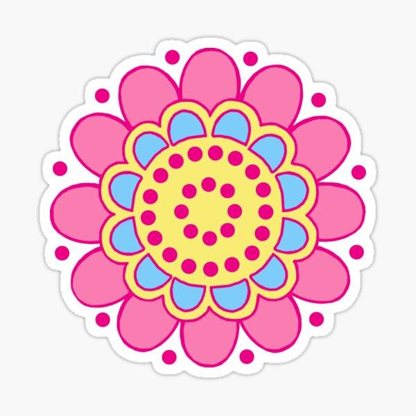 Hippie Flower Sticker