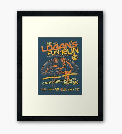 Logan's Fun-Run Framed Print