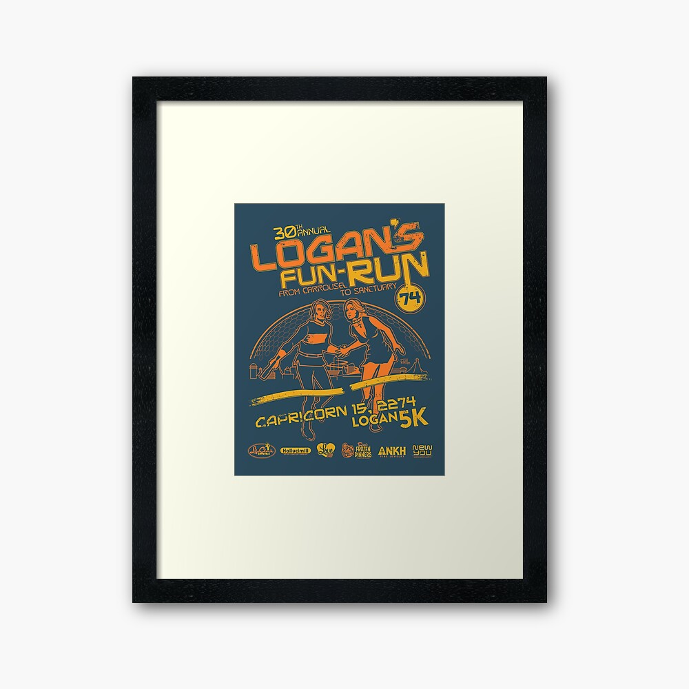 Logan's Fun-Run Framed Art Print