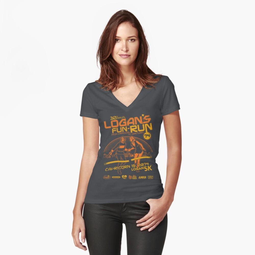 Logan's Fun-Run Fitted V-Neck T-Shirt