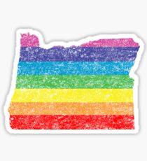 oregon rainbo Sticker