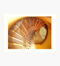 Lighthouse steps ^ Art Print