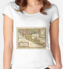 Vintage Map of Mexico (1708) Women's Fitted Scoop T-Shirt