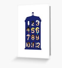 The Number Who Greeting Card