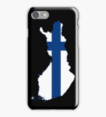 Finland Flag Map iPhone Case/Skin