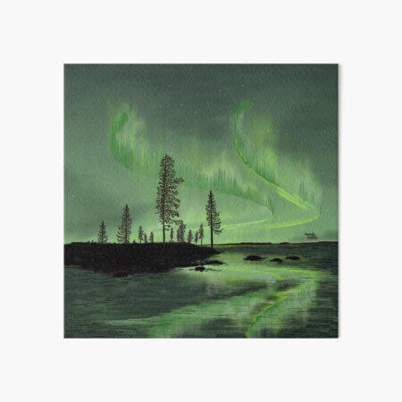 Green Reflection - Lapland8seasons Art Board Print