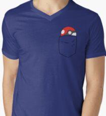 POKEBALL POCKET Men's V-Neck T-Shirt