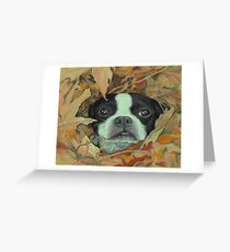 Boston in the Leaves Greeting Card