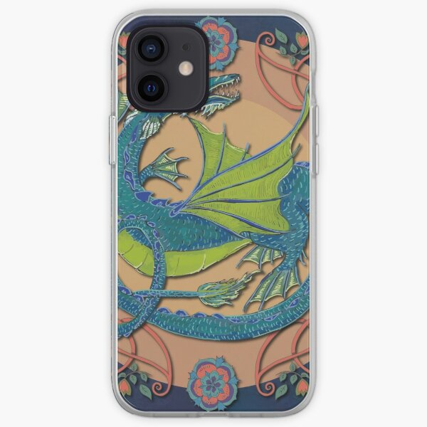 Celtic Medieval Water Dragon iPhone Soft Case