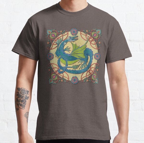 Celtic Medieval Water Dragon Classic T-Shirt