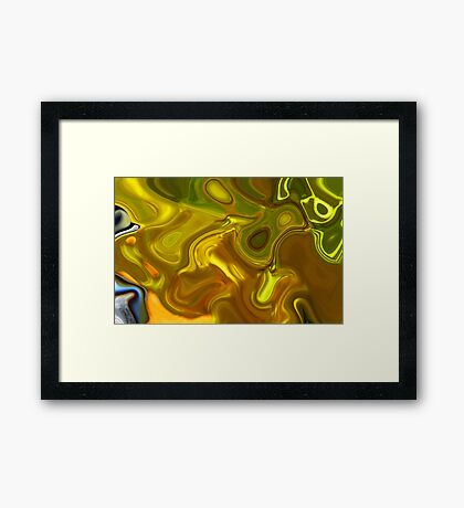 CHARTREUSE SERIES Abstract XII Framed Print