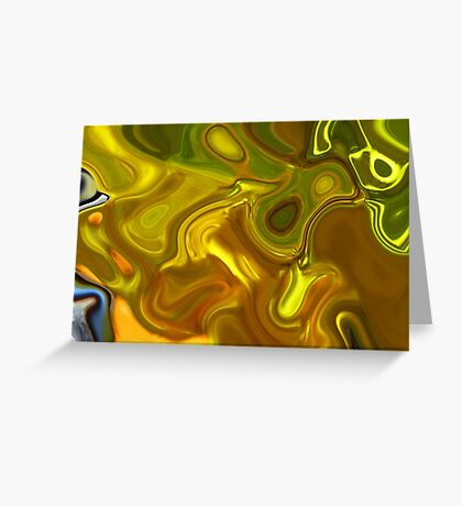 CHARTREUSE SERIES Abstract XII Greeting Card