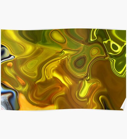 CHARTREUSE SERIES Abstract XII Poster