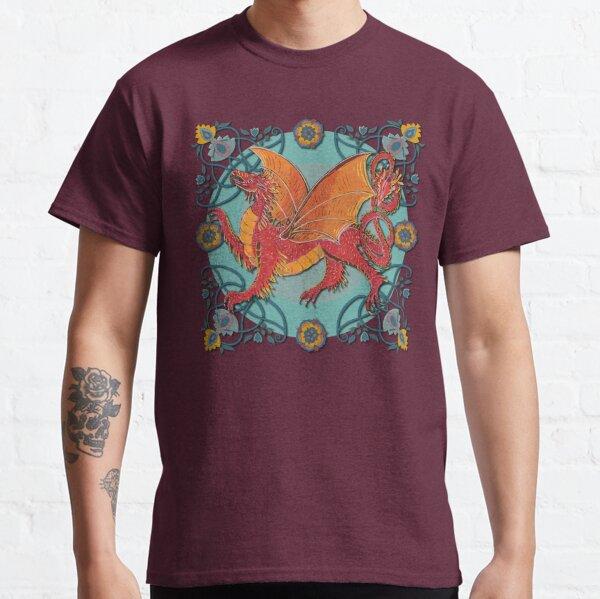 Celtic Medieval Fire Dragon Classic T-Shirt