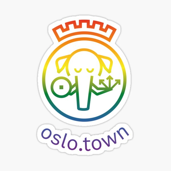 oslo.town Logo (Rainbow) Sticker