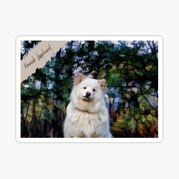 Finnish Lapphund Dog Artwork Sticker
