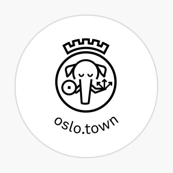 oslo.town Circle Artwork Sticker