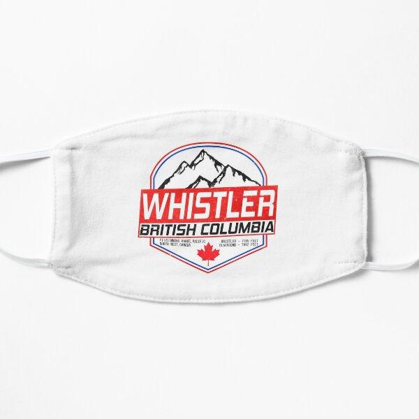 Retro Ski Whistler B.C Canada Skiing and Mountain Biking Paradise Flat Mask