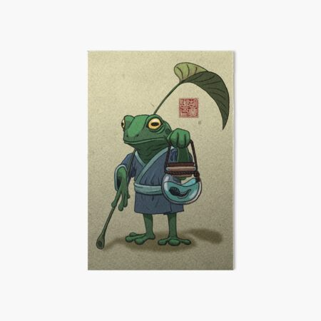 A Frog and His Son Art Board Print