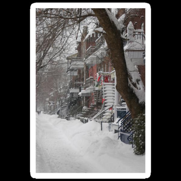 Montreal Winter Scene by michel bazinet