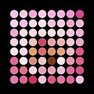 Pink Polka Dot Pattern On Black - 1 of 2 (see description) by Ra12
