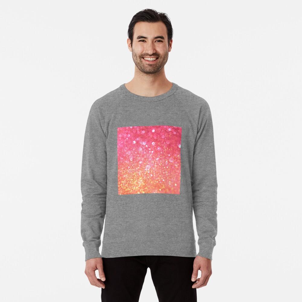 Glam,glitter,pink,orange,yellow,cute,girly,pattern Lightweight Sweatshirt