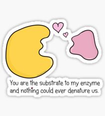 Enzyme and Substrate Love Story Sticker