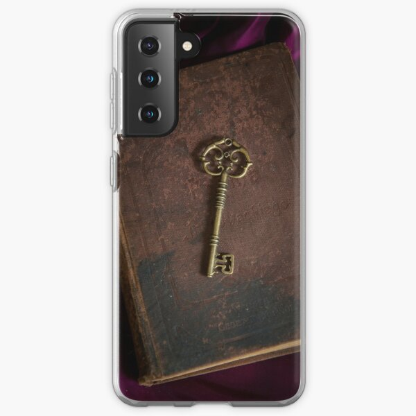 Metal ornamented key and old hard covered book Samsung Galaxy Soft Case
