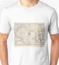 Vintage Map of The Atlantic Ocean (1746) Unisex T-Shirt