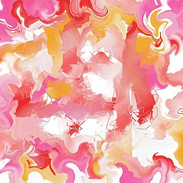 Abstract in red, yellow, pink, and white by braveevolver
