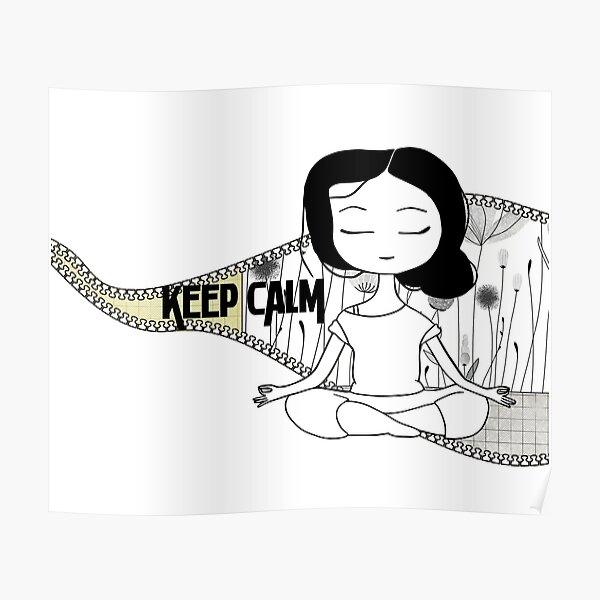 girl in meditation Poster