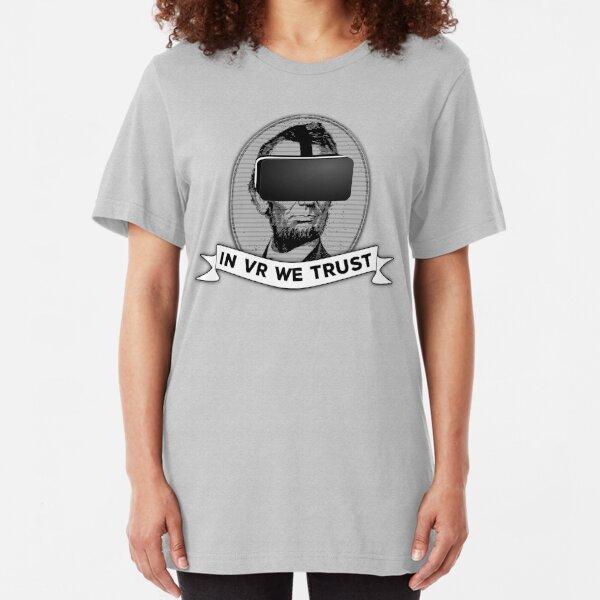 Funny Virtual Reality Player's Cool VR Parody (gray) Slim Fit T-Shirt