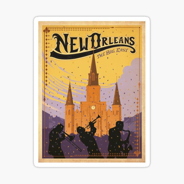 Vintage poster - New Orleans Sticker