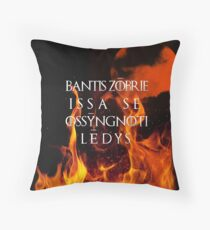 The night is dark and full of terrors Throw Pillow