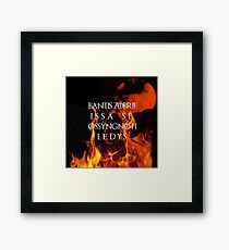 The night is dark and full of terrors Framed Print