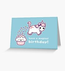 unicorn greeting cards  redbubble, Birthday card