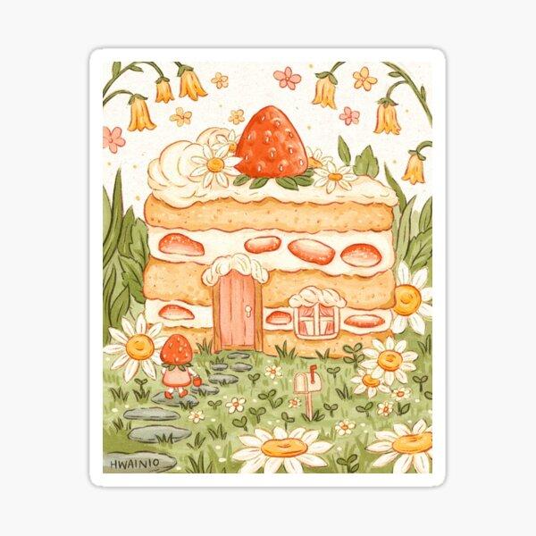 Strawberry Shortcake House Sticker