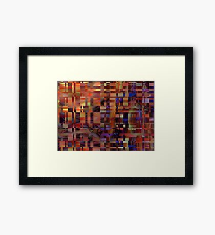 This Way Up Framed Print