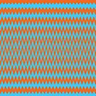 Zigged And Zagged, Orange And Blue by pocketsoup